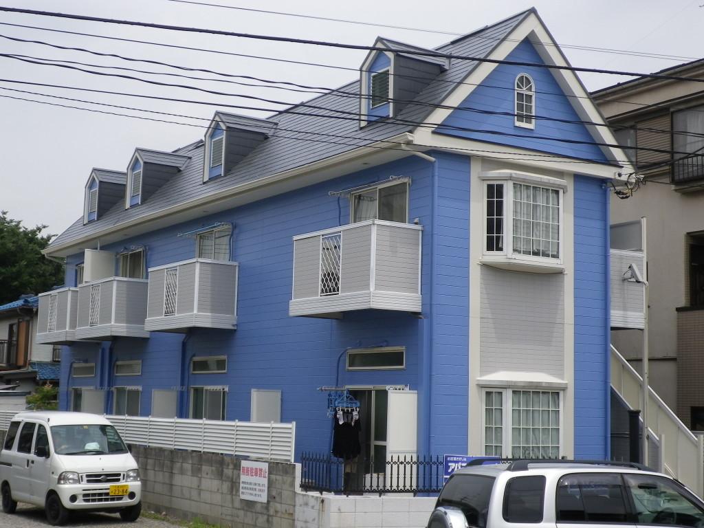 アパート外壁塗装のリフォーム事例(川口市 ワンルームアパート)
